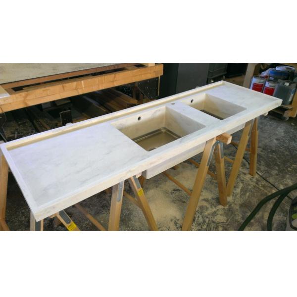 Küchenspüle im Bau