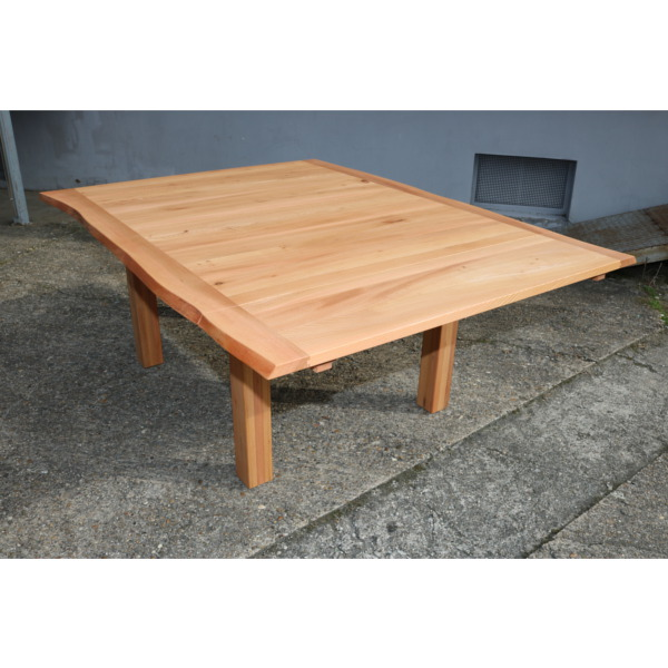 Esstisch in Rüster mit Baumkante incl. Tischverlängerung