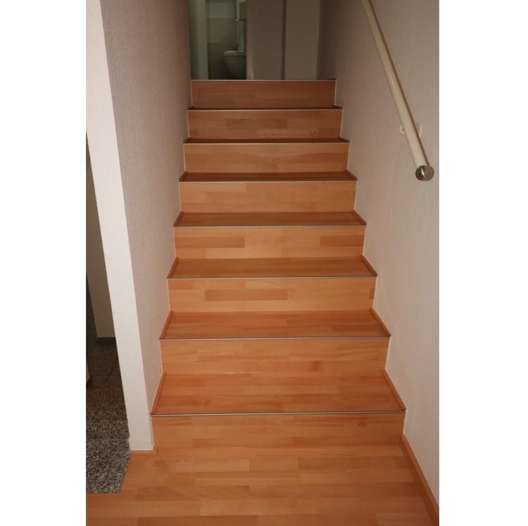Treppenbelag aus Buche Parkett