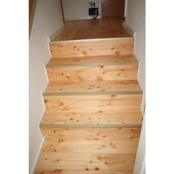 Lärche- Parkett auf Treppe